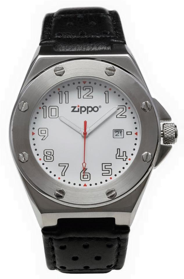 7c2a68ca8f84 Zippo 45008 - Reloj analógico de cuarzo para hombre con correa de piel